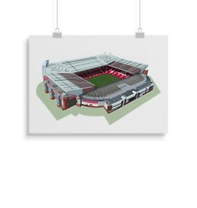 Manchester United Print Gift Home Decor Old Trafford Wall Art Poster