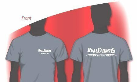 BRAND NEW GREAT PLANES REALFLIGHT 6 T-SHIRT GRAY LARGE #GPMZ0021