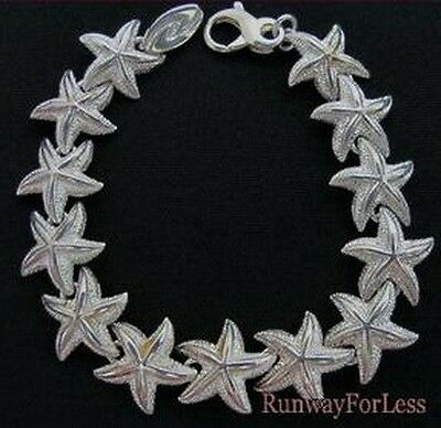 New .925 925 Sterling Silver Sea Star Seastar Sea Creature Bracelet 0.7 oz 20 gr