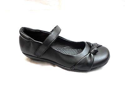 Zapatos Casuales Negro Niñas Escuela, Cierre de Correa Tallas 8-2 Kelly