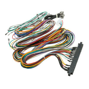 wiring harness cable diy kit parts assemble for arcade. Black Bedroom Furniture Sets. Home Design Ideas