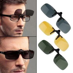 156eb9a294bf Driving Night Vision Flip-up Lens Cool Eyewear Clip On Lens Anti-UV ...