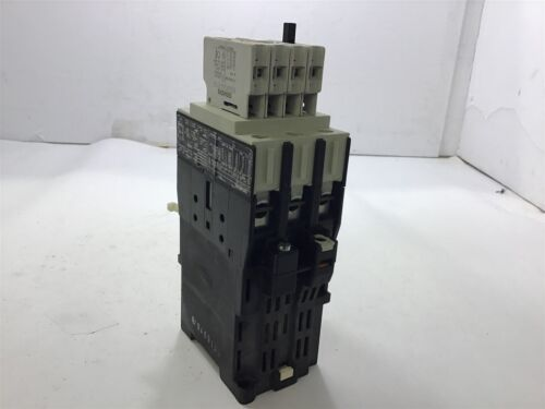 SIEMENS 3TF3400-0B CONTACTOR 460 V @ 25 HP 24 VDC COIL W// 3TX4010-2A AUX