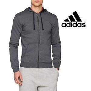 Détails sur Adidas pour homme Essentials base Polaire Full Zip Sweat à Capuche Veste FREE POST afficher le titre d'origine