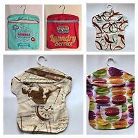 Retro Klammerbeutel Kleiderbügel Wäscheklammer-beutel Love Paris 70er Macarons