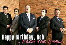 I sopranos James Gandolfini personalizzata HAPPY BIRTHDAY MOBSTER MOB CARTOLINA ARTISTICA