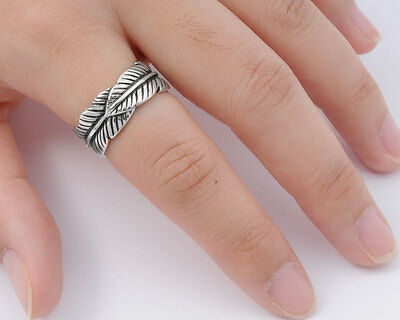 Feather Rings Sterling Silver 925 Best Price Jewelry Gift Size Selectable