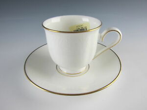 Lenox-China-HANNAH-GOLD-Cup-amp-Saucer-Set-s-EXCELLENT