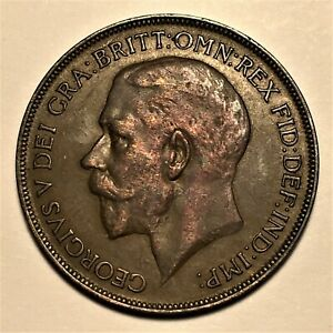1922-Great-Britain-Penny-George-V-KM-810-AU-2677