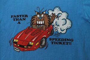 Morey-Boogie-1992-Bobcat-Shelley-Robillard-Faster-Than-A-Speeding-Ticket-Shirt