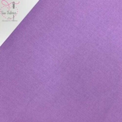 Lavande 100/% Artisanat Coton Solide Tissu Uni Violet pâle matériel