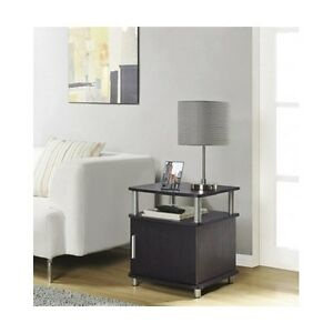 Contemporary End Table Modern Living Room Accent Storage