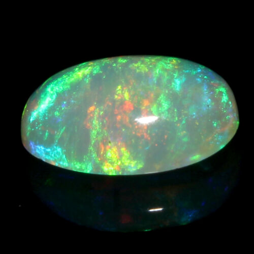6x8 mm Natural Ethiopian Multi Fire Opal Oval Cabochon Loose Gemstone #85