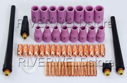 TIG Welding Torch Spare parts replacement Collet Alumina Cup WP9 WP-20 WP25 53PK