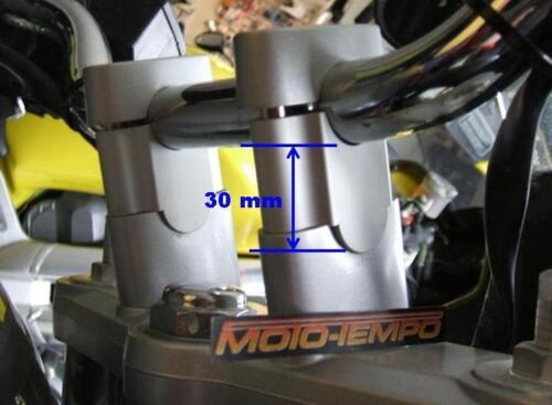 CNC 30mm BAR RAISERS RISERS FOR KAWASAKI ER-5 ER 500 1996 to 2007