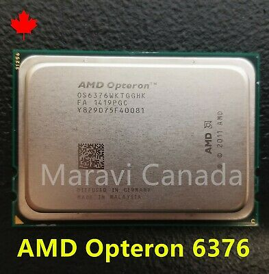 Lot of 2 AMD Opteron OS6376WKTGGHK 16-Core 6376 @ 2.3GHz CPU Processor