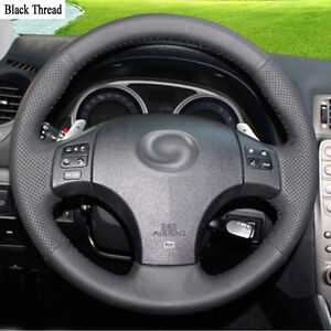 New-DIY-Sewing-on-PU-Leather-Steering-Wheel-Cover-Exact-Fit-For-Lexus-IS300