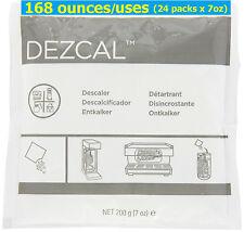 24 packs x 7oz = 168 Uses DEZCAL Urnex Descaler Tassimo Bosch Breville Keurig