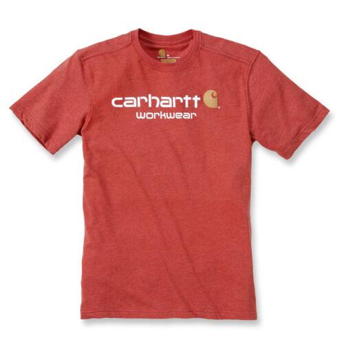 Carhartt Core Logo camiseta,workwear,Rojo mezclado ,chili Heather,rojo,101214