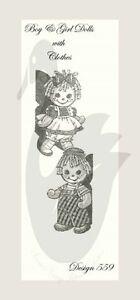 2019 Nouveau Style Reproduction Vintage Twin Raggedy Bébés à Coudre Motif D559-afficher Le Titre D'origine