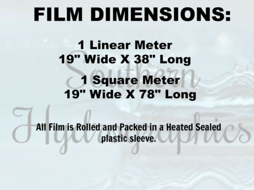 """Hydrographic Film Water Transfer Hydro Dipping Dip Film 1M 19/"""" x 38/"""" Fireworks"""