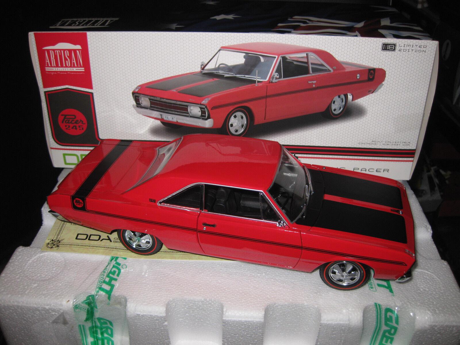 1 18 vertLIGHT DDA 1970 CHRYSLER VALIANT VG PACER 245 HEMI rouge  LTD ED OF 708