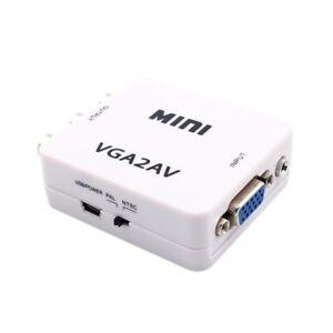 1080P-Mini-VGA-to-RCA-AV-Converter-with-3-5mm-VGA-2AV-CVBS-Audio-Audio-A8N3