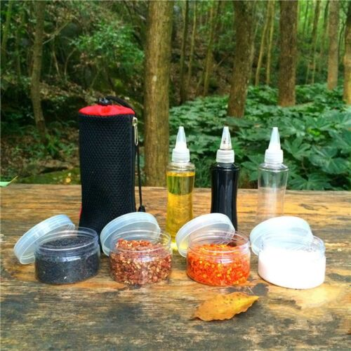 Portable Outdoor Camping Cooking Condiment Bottles Picnic Seasoning Container
