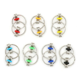 Bicycle-Chain-Metal-Hand-Spinner-Key-Ring-Sensory-Toy-Stress-Relie-TDO