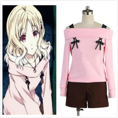 Custom-made Diabolik Lovers Yui Komori Pink Cosplay Costume Cos Free shipping
