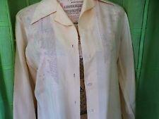 T2/3  BLANC CRéME ,SOIE ancien,  superbe corsage ,brodé,   élégance assurée
