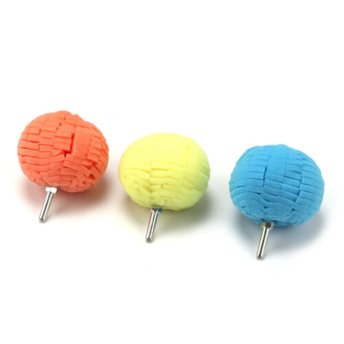 3Pcs 80mm Sponge spherical Metal Polishing Foam Pad Wool Buffing Polishing Ball
