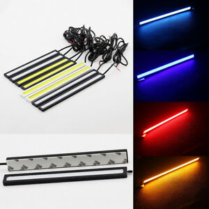 2x-17cm-Super-Bright-Waterproof-12V-COB-Car-LED-Light-DRL-Fog-Driving-Lamp-Great