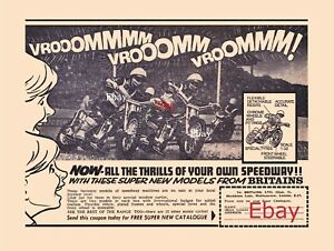 Britains-Speedway-motorcycle-1-32-scale-models-A4-advertising-print