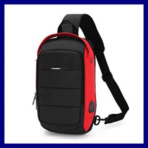 Sling Backpack Bag Chest Shoulder Cross body Bag Waterproof with USB ... 2720fed080b06
