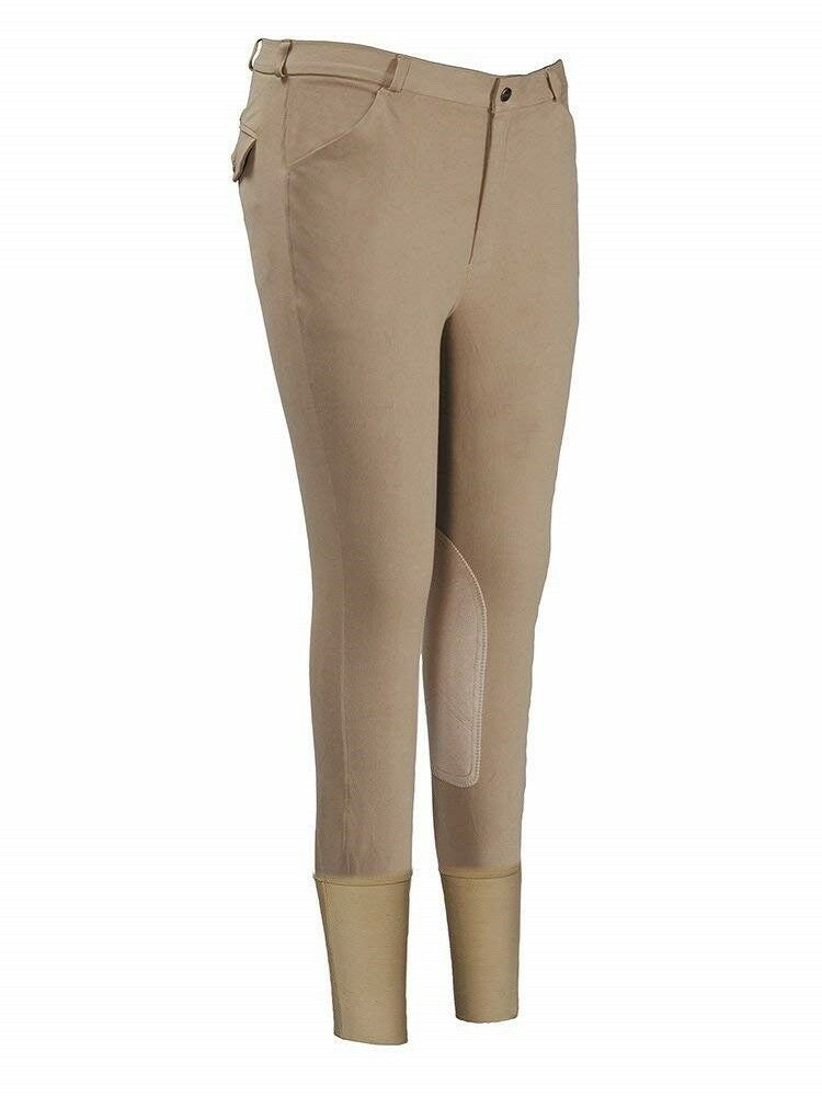 TuffRider Men's Patrol Knee  Patch Breeches (Regular) (Light Tan, 38)  professional integrated online shopping mall