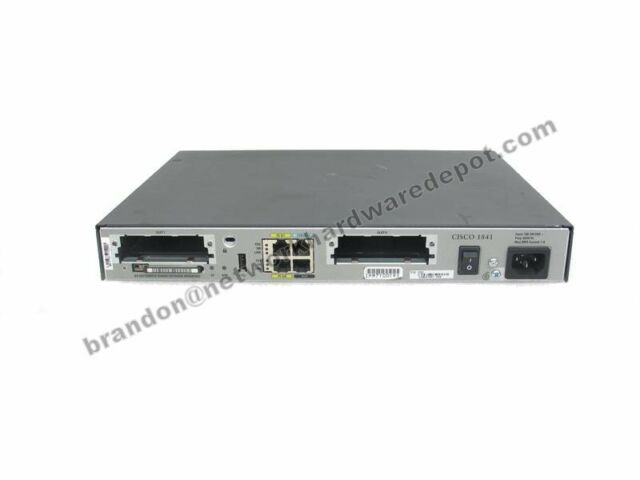 Cisco 1841 100 Mbps 2-Port 10/100 Wired Router (CISCO1841-T1SEC/K9 ...