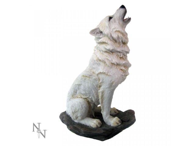Storms Llorar Aullando Blancanieves Ghost Wolf Némesis Adorno de Figurita