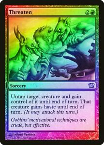 Threaten FOIL 10th Edition NM-M Red Uncommon MAGIC THE GATHERING CARD ABUGames