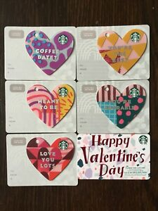 Canada-Series-Starbucks-034-HAPPY-VALENTINES-SET-2019-034-6-Gift-Cards-New-No-Value