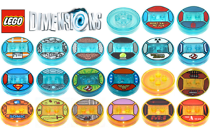 OEM-Lego-Dimensions-Game-Tags-Base-Disc-Marty-BA-Wonder-Woman-Doc-Homer-NEW