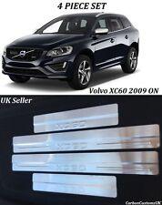 VOLVO XC60 2009 ON 5 DOOR STAINESS STEEL DOOR SILL SCUFF PLATES - UK SELLER