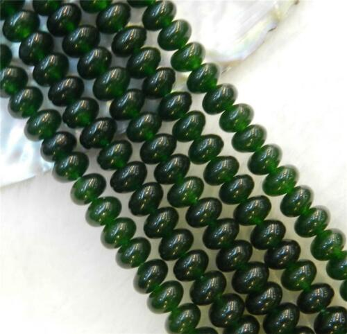 "Beauty Dark Green 4x6mm Emerald Gemstone Roundel Abacus Loose Beads 15/"" Strand"