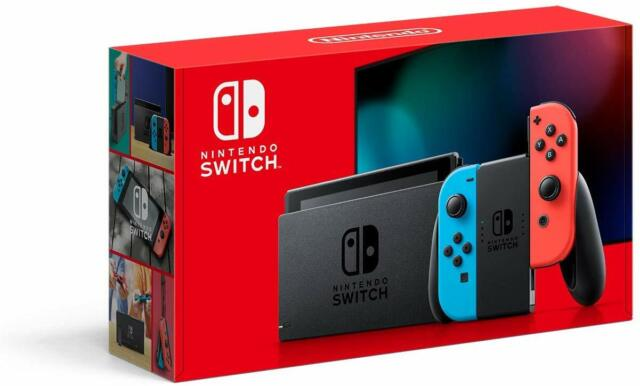 Nintendo HAD S KABAA USZ Switch with Neon Blue and Neon Red Joy Con