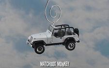 White 1994 Jeep Wrangler Custom Ornament 1/64 Adorno 4x4 Open Top YJ Sport Rio
