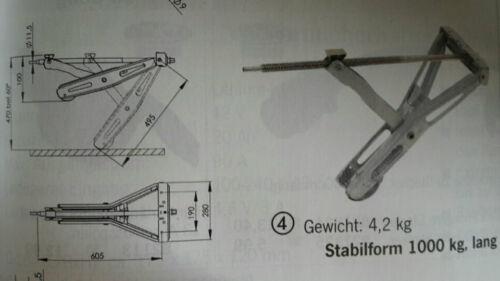 1000kg Tragfähigkeit AL-KO Steckstütze Stabilform  Einbaumaß 605