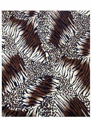 Peach Skin Dress Fabric - Wild Wild Wild - Dress Fabric