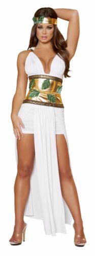 Roma 4pc Divine Goddess White /& Gold Greek Roman Dress Costume 4433