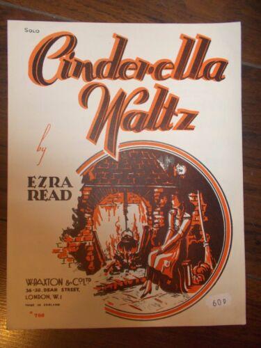 VINTAGE SHEET MUSIC CINDERELLA WALTZ EZRA READ