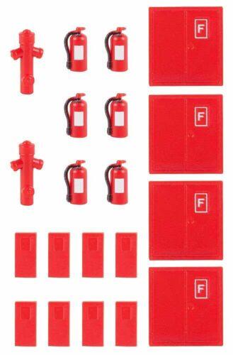 nuevo en OVP Faller 180950 6 extintores de incendios y 2 bocas de